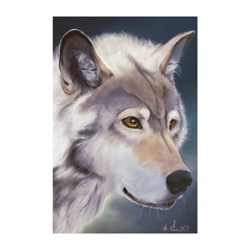 Wolf by Night - Poster 20x30 cm