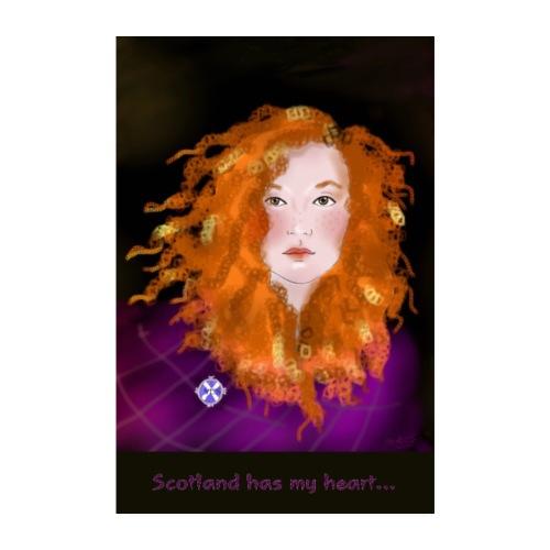 Scottish lassy - Poster 8 x 12 (20x30 cm)