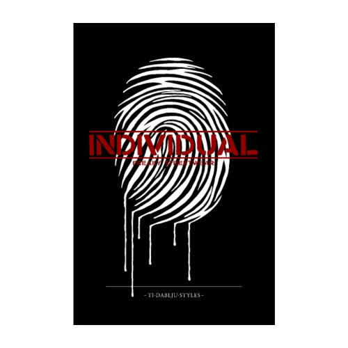 Poster individual white - Poster 20x30 cm