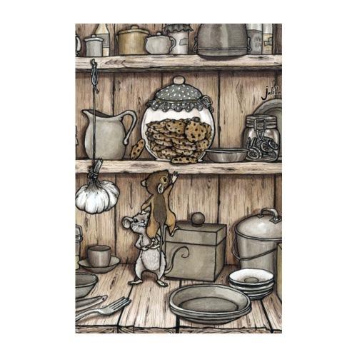 Mäuse und Keksglas - Poster 20x30 cm