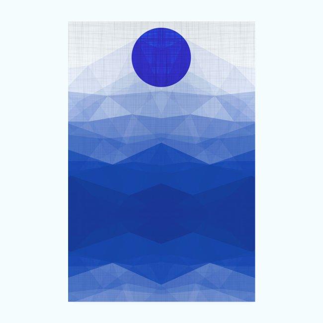 Ein Tag Am Meer Minimalismus Aquarell