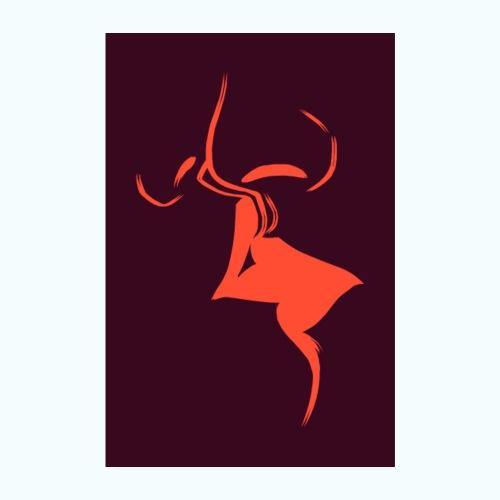 A dear kiss - minimalism lines drawing - Poster 8 x 12 (20x30 cm)