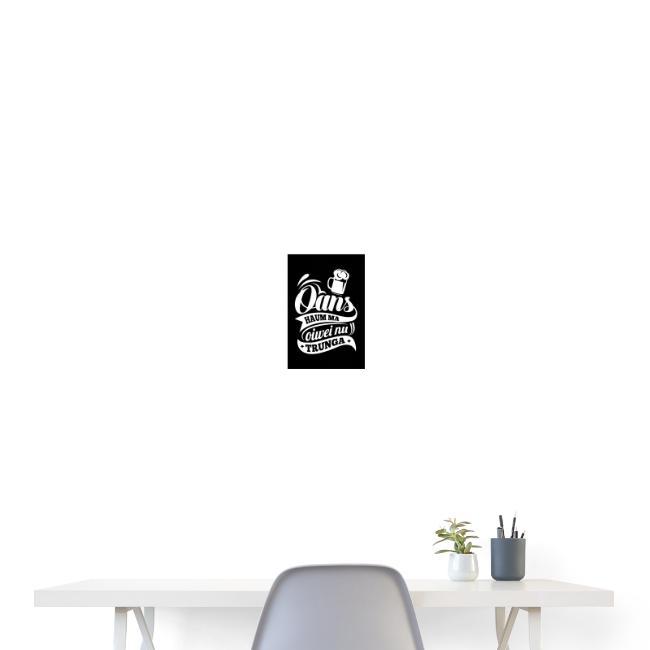 Vorschau: Oans hauma oiwei nu trunga - Poster 20x30 cm