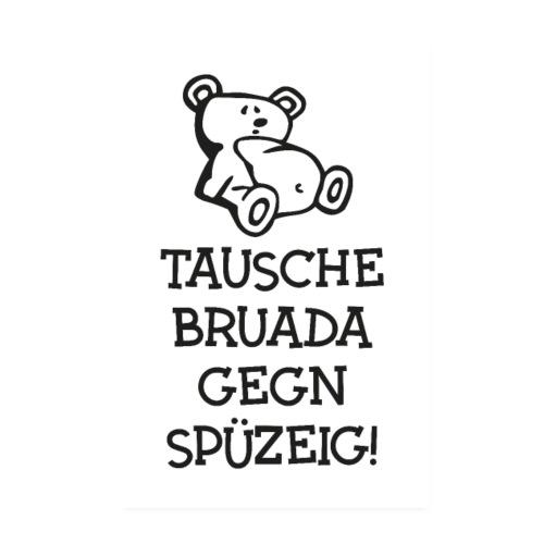 Vorschau: Tausche gegen Spüzeig - Poster 20x30 cm