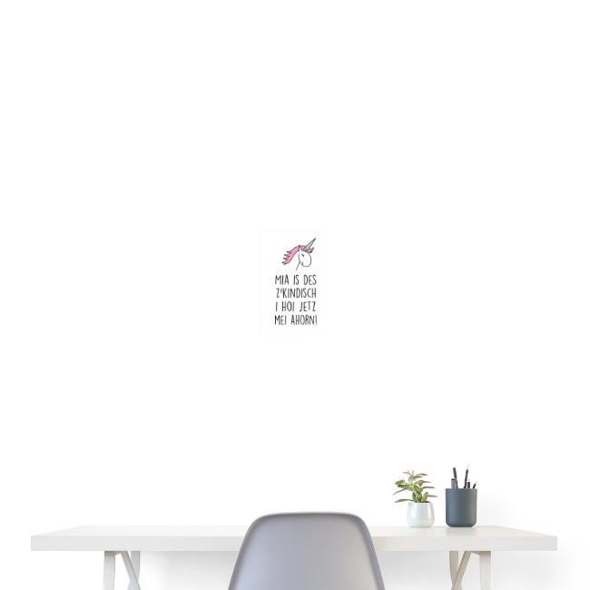 Vorschau: Einhorn Leiberl - Poster 20x30 cm