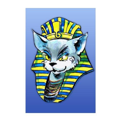 Poster Die Katze als Pharao - Poster 20x30 cm
