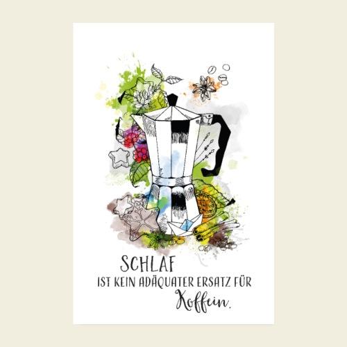 Kaffeekanne - Spruch - Poster 20x30 cm