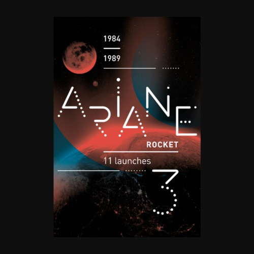 ARIANE 3 - Into the space - Poster 8 x 12 (20x30 cm)