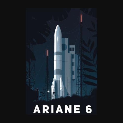 Ariane 6 - At night By Tom Haugomat - Poster 8 x 12 (20x30 cm)