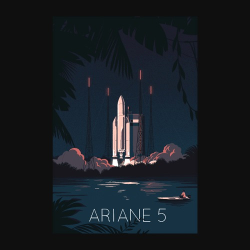 Ariane 5 - Launching By Tom Haugomat - Poster 8 x 12 (20x30 cm)