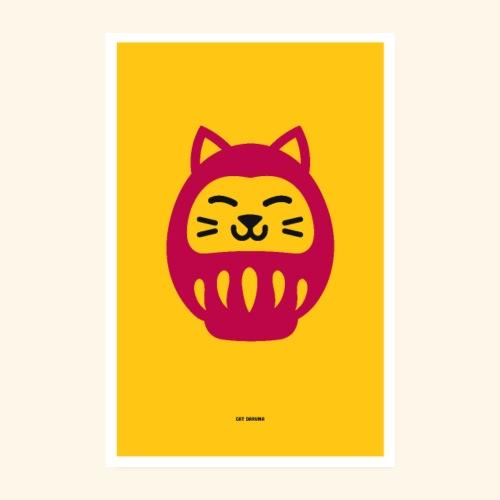 Cat Daruma - Poster 8 x 12 (20x30 cm)