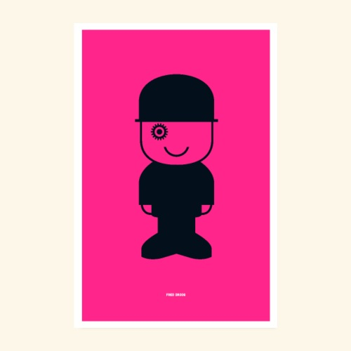Fred Droog - Poster 8 x 12 (20x30 cm)