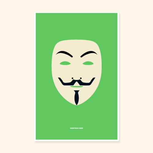 Anonymous mask - Poster 8 x 12 (20x30 cm)