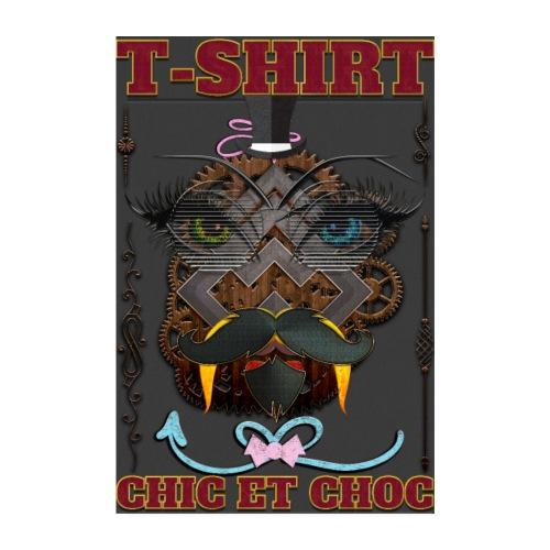 T-shirt chic et choc - Poster fond couleur noir - Poster 20 x 30 cm