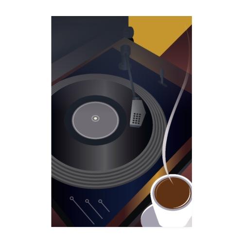 Art Déco | Vinyl et café - Poster 20 x 30 cm