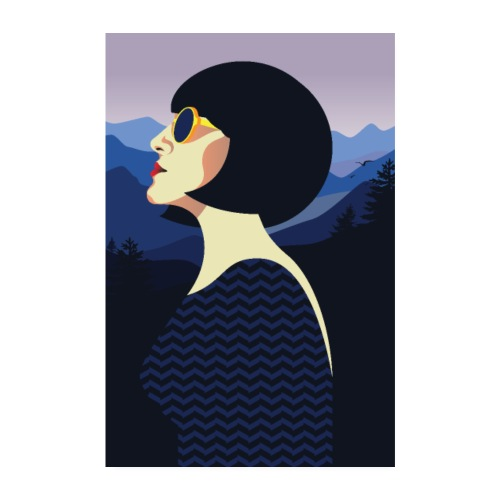 Art Déco | Femme rétro - Poster 20 x 30 cm
