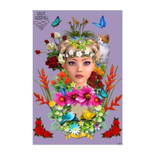 Poster - Lady spring - couleur orchidée - Poster 20 x 30 cm