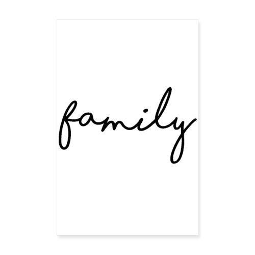 family - Poster 20x30 cm