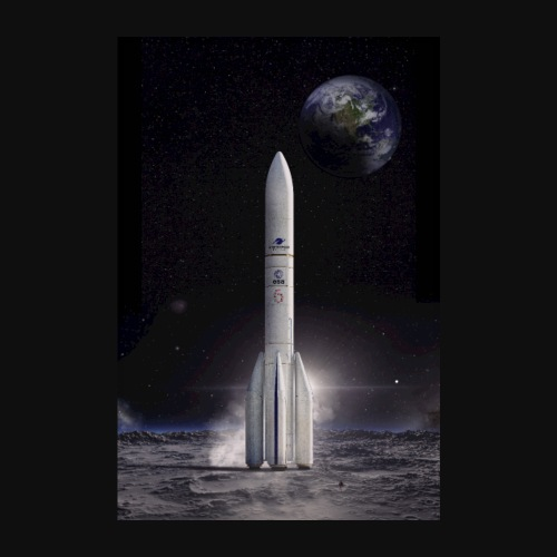 Ariane reaches for the Moon - Poster 8 x 12 (20x30 cm)