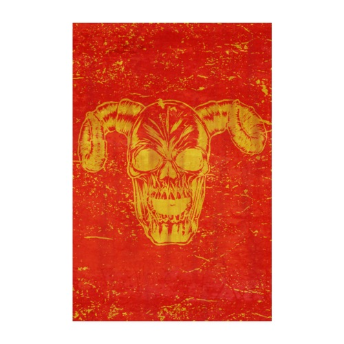 skull with horns poster design gift idea - Poster 20x30 cm