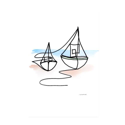 Fiskerbåde Nej 1 - Poster 20x30 cm