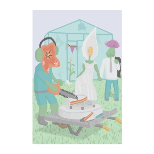 Tidsel og lilje - Poster 20x30 cm