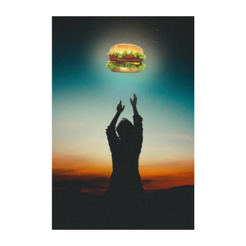 Hamburger in The Sky - Poster 20x30 cm