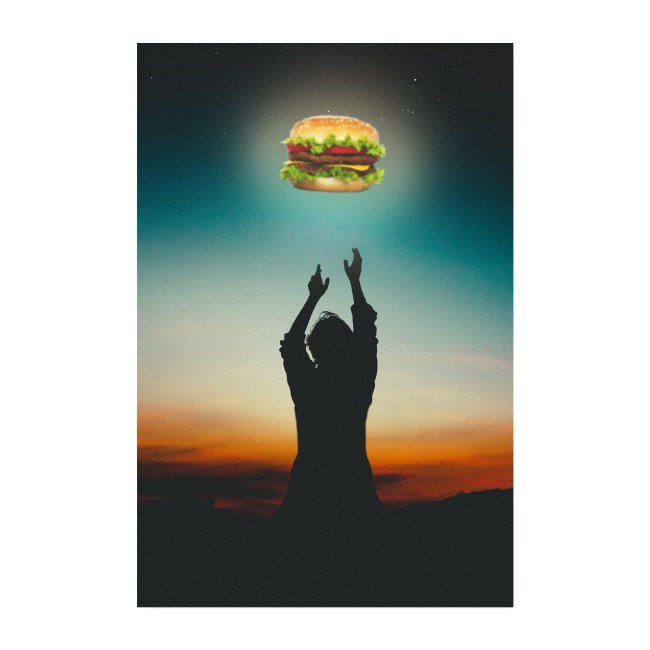 Hamburger in The Sky