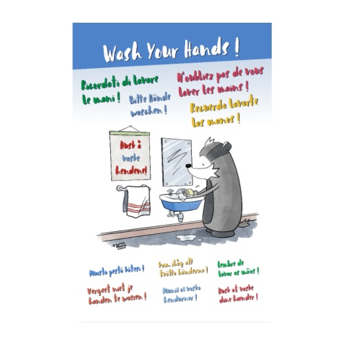 Wash Your Hands! - Poster 20x30 cm