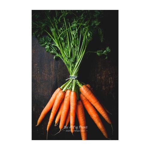Karotten Liebe - Küchen Kunst 01 - Poster 20x30 cm