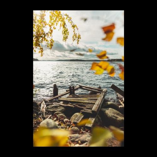 Syksyinen vanha laituri - Juliste 20x30 cm