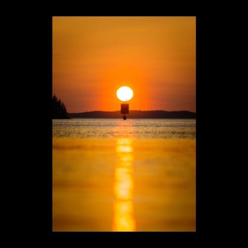 Helteinen auringonlasku Saimaalla - Juliste 20x30 cm