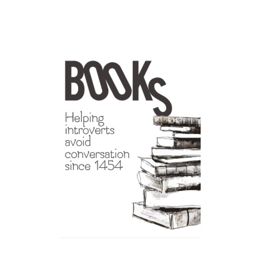 Books - Helping introverts avoid conversation - Poster 20x30 cm