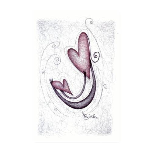 Amore Universale. Abbraccio tra cuori. - Poster 20x30 cm