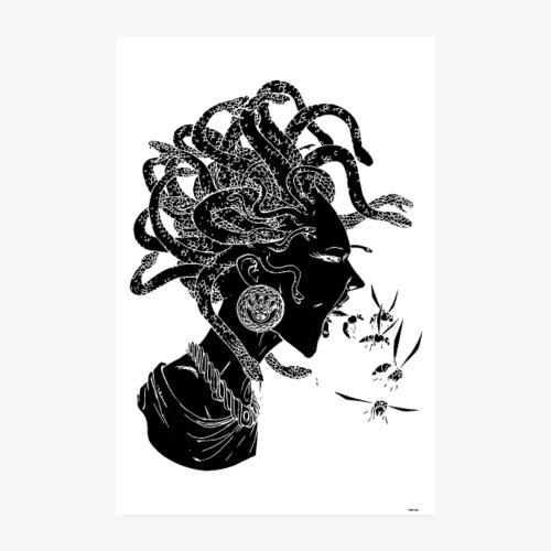 Gorgone Noire - Poster 20 x 30 cm