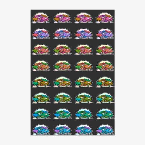 Kebabs - FondNoir - Poster 20 x 30 cm