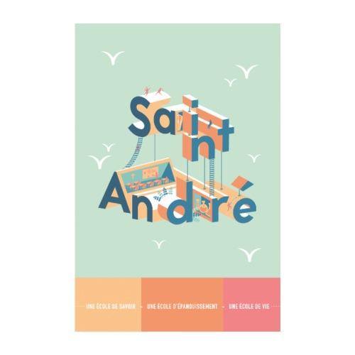 Poster Vie À Saint André 107 - Poster 20 x 30 cm