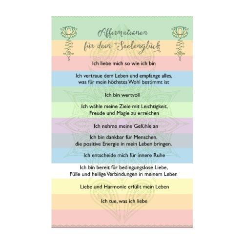 Affirmationen für dein Seelenglück - Poster 20x30 cm