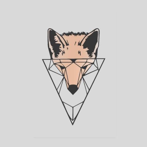 Fuchs Geometrie hell - Poster 20x30 cm