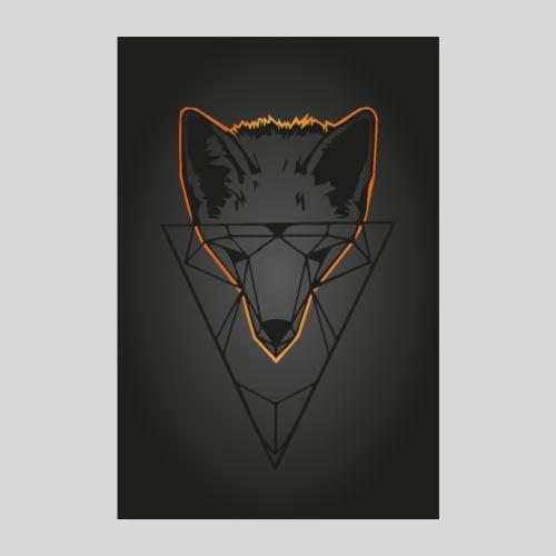 Fuchs Geometrie dunkel - Poster 20x30 cm