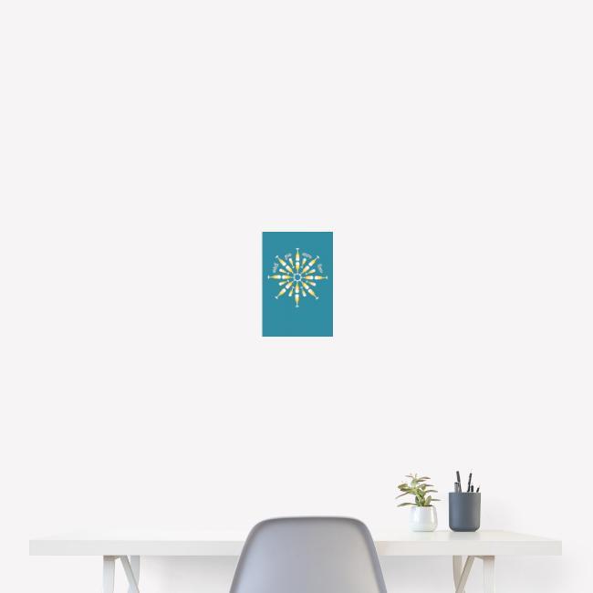 Poster Biertulpen Mandala