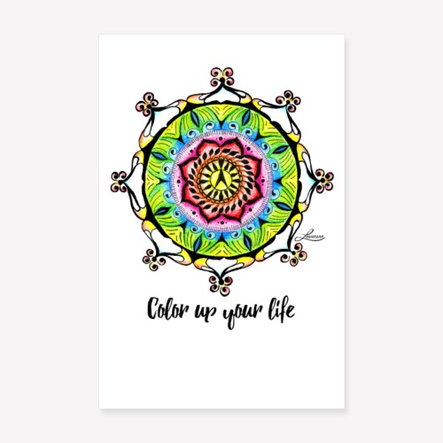 Poster Color up your life - Poster 20x30 cm