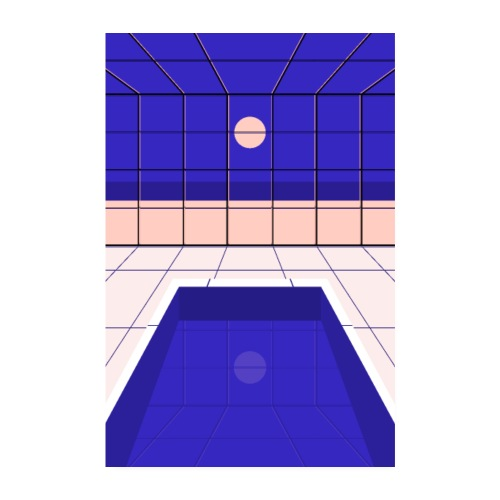 Midnight Bath - Poster 20 x 30 cm