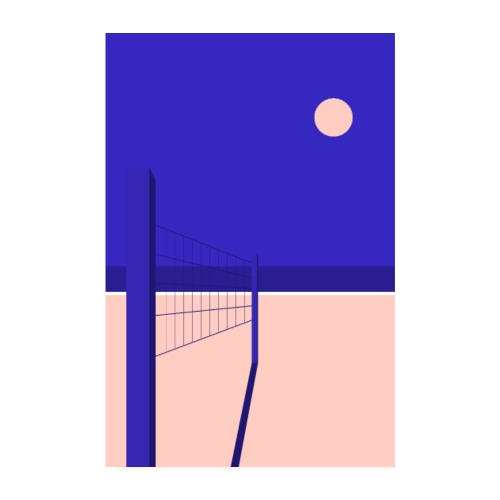 Midnight Beach - Poster 20 x 30 cm