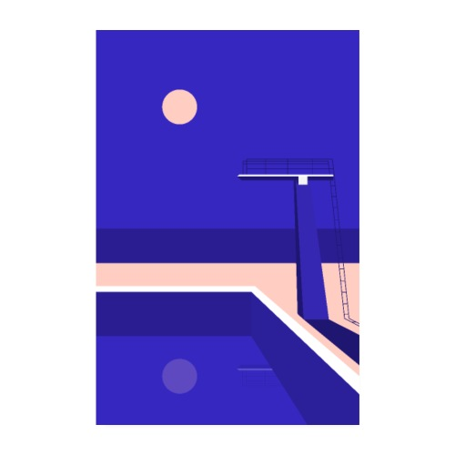 Diving Board Night - Poster 20 x 30 cm