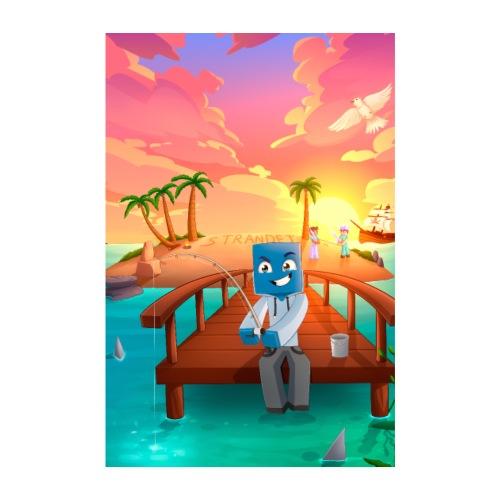 strandet poster - Poster 20x30 cm