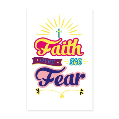 FAITH OVER FEAR - Poster 20x30 cm