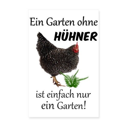 Poster Hühner im Garten - Poster 20x30 cm