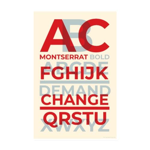 Montserrat Bold Typography Poster - Poster 8 x 12 (20x30 cm)