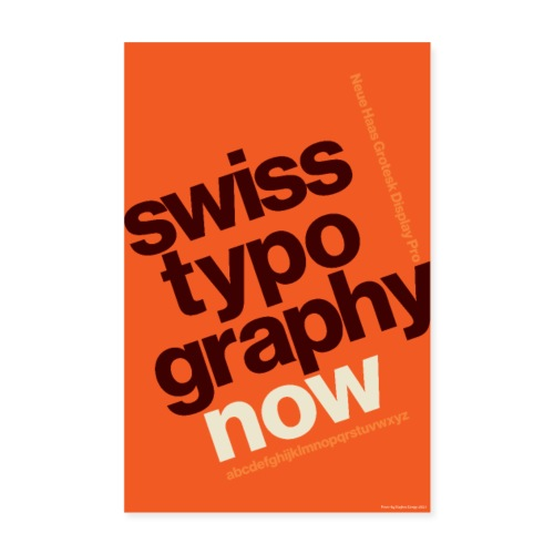 Swiss Typography Poster - Poster 8 x 12 (20x30 cm)